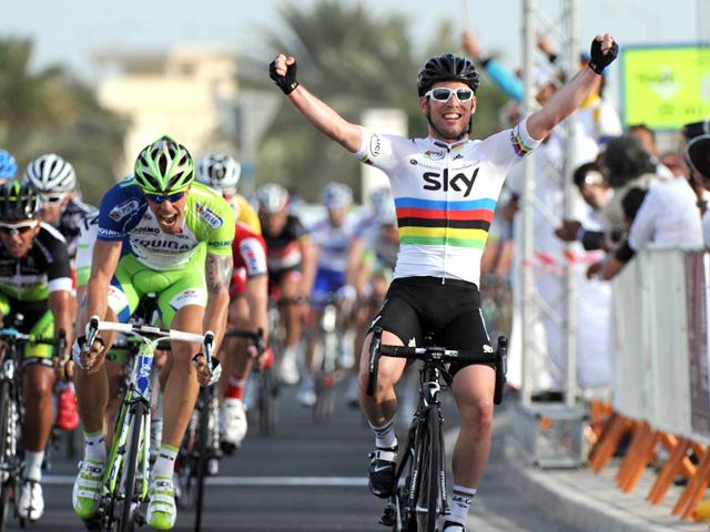 Chegada da quinta etapa da Volta do Catar 2012