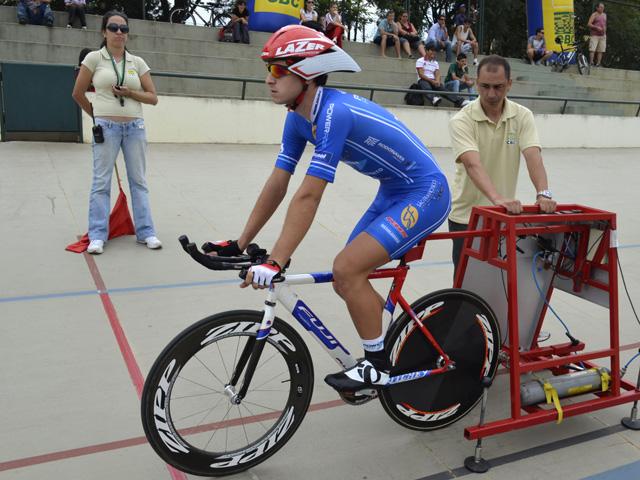 Thiago Nardin - ouro na perseguição individual - Brasileiro de Pista 2012