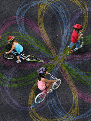 Invenção faz da bicicleta uma ferramenta de arte