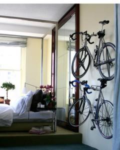 Decoração adequa solução para bikes