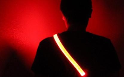 Cinto de LED Halo Belt deixa o ciclista mais visível à noite