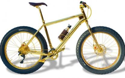 A incrível mountain bike de ouro de US$ 1 milhão