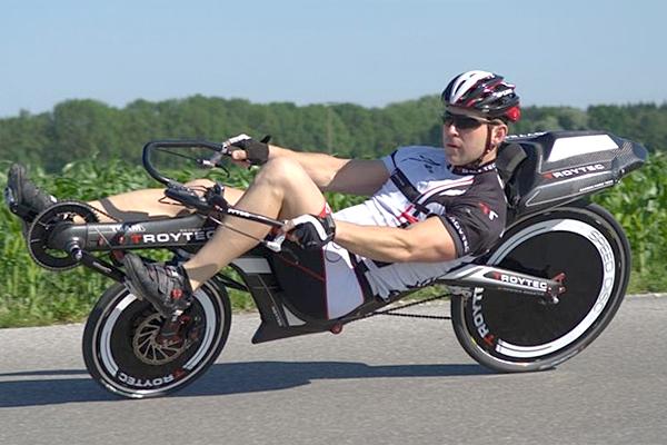A bike reclinada da Revolution tem 4 versões de quadro
