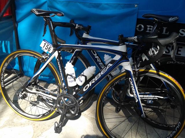 Bike do italiano Andrea Peron, da equipe Team Novo Nordisk