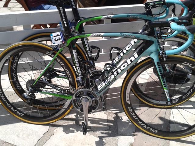 Bike do australiano Graeme Brown, da equipe Belkin