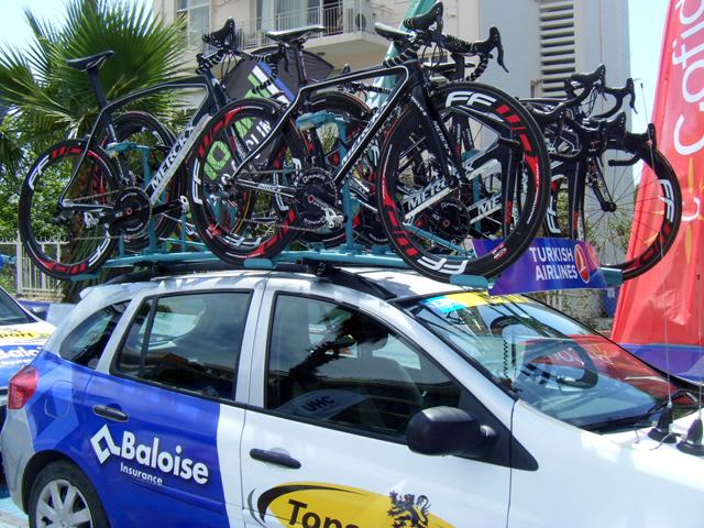 Bikes da equipe holandesa Topsport