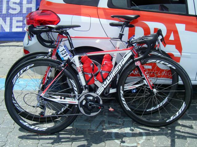 Bike de Jai Crawford, da equipe australiana Drapac