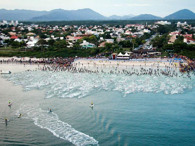 Praia de Jurerê Internacional recebeu a disputa neste domingo