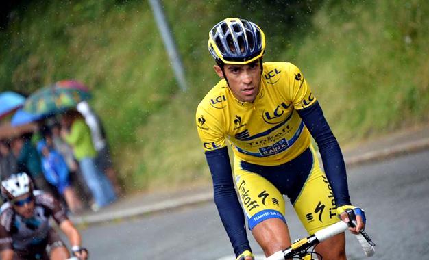 Contador na última etapa da Critérium du Dauphiné