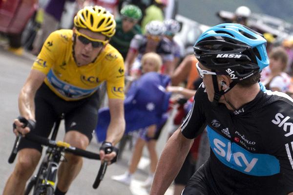Na célebre foto da famigerada 11ª etapa do Tour de France de 2012