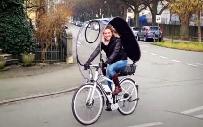 Dryve, uma capota para encarar a chuva de bicicleta