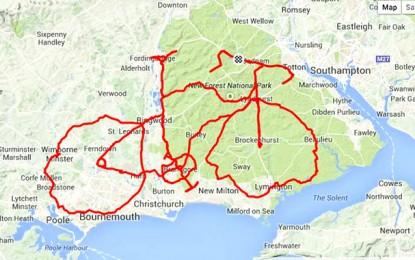 765d107bf2d Britânico pedala 13 horas para desenhar bike no Strava Art