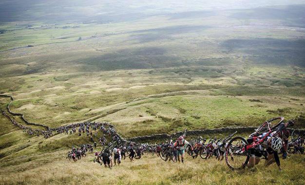 Ciclocross em Yorkshire, no norte da Inglaterra