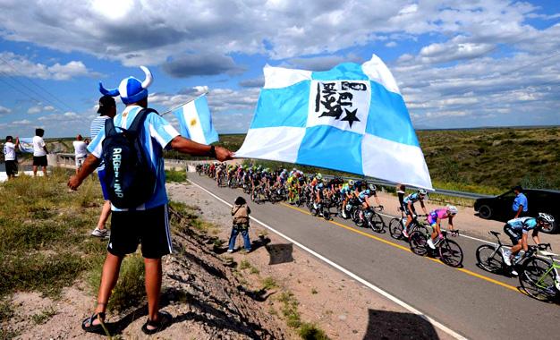 No percurso do Tour de San Luis na Argentina