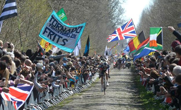No percurso da Paris-Roubaix Foto:ASO