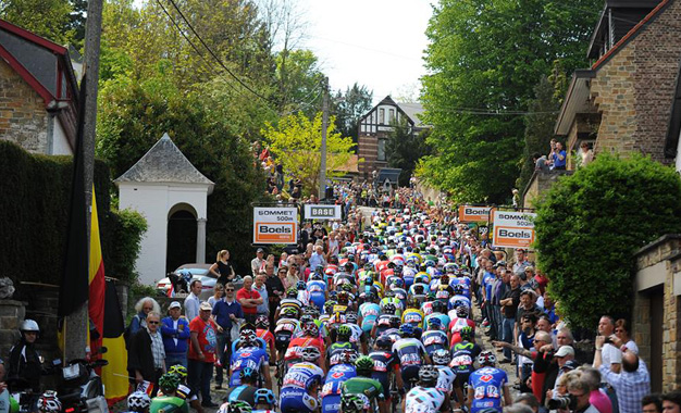 No percurso da Fleche Wallonne