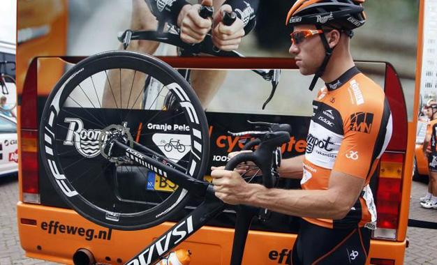 Bike com freios a disco no Eneco Tour Foto:Davy Rietbergen/Cor Vos ©