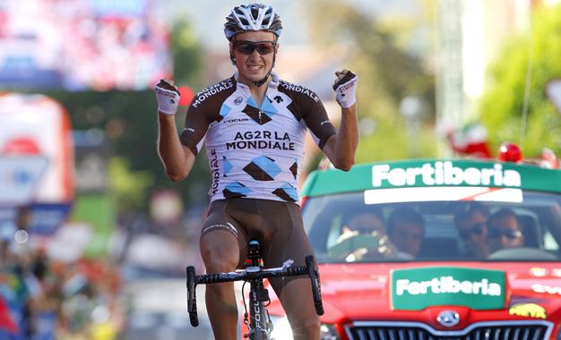 Alexis Gougeard na vitória da 19ª etapa Foto:© Graham Watson/Unipublic
