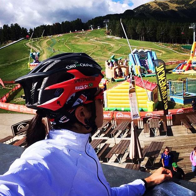 Raiza Goulão mostra circuito em Vallnord, no principado de Andorra