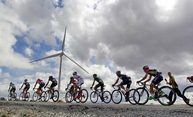 No percurso da 18ª etapa da Vuelta Foto:© J.A. Miguelez/Unipublic