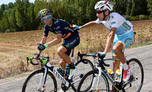 Valverde e Fabio Aru na 18ª etapa Foto:© Graham Watson/Unipublic