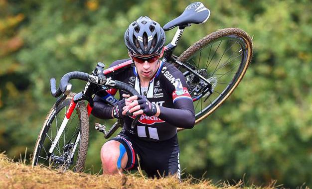 O holandês Lars van der Haar na 2ª etapa da Copa do Mundo de Ciclocross