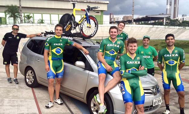 Seleção brasileira de pista Foto: CBC