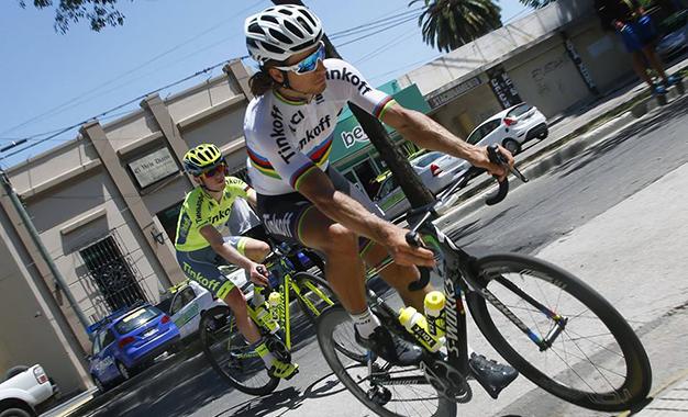 Sagan treina em San Luis Foto: Tinkoff