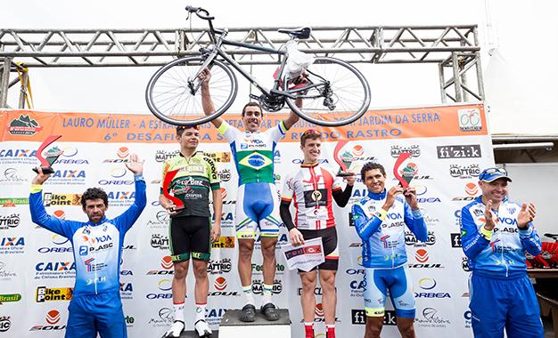 Pódio do ciclismo do Desafio da Serra do Rio do Rastro