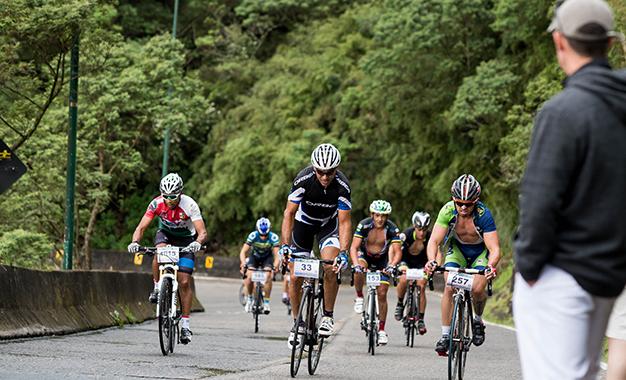 No duro percurso do desafio em Santa Catarina