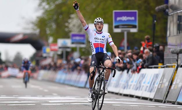Petr Vakoc na chegada da corrida belga