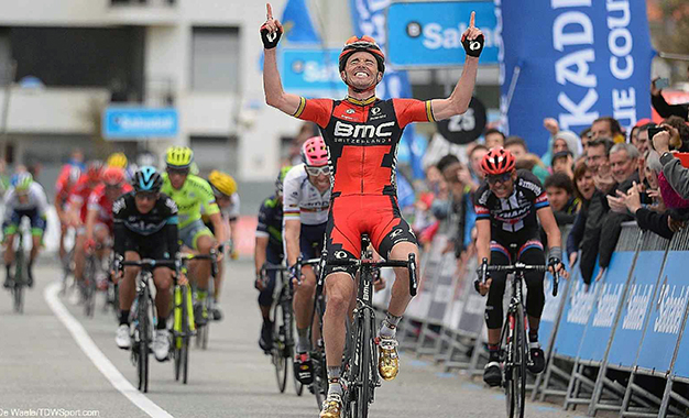 Samuel Sanchez na vitória da 4ª etapa da Volta ao País Basco Foto: BMC