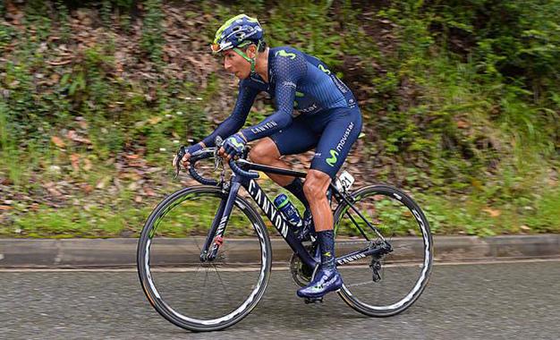 Nairo Quintana na última etapa
