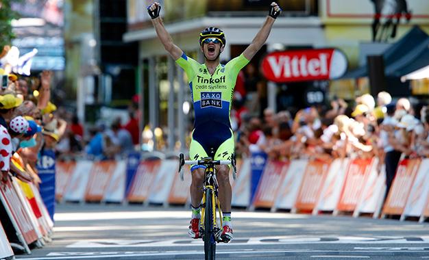 Michael Rogers na vitória da 16ª etapa do Tour de France de 2014 Foto:Tinkoff