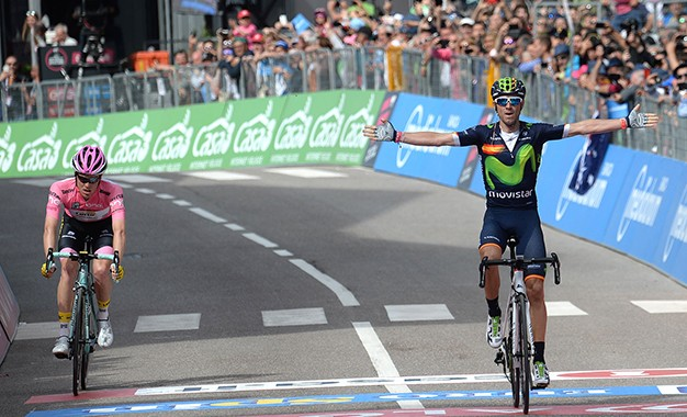 Giro: Valverde vence pela primeira vez; Kruijswijk segura maglia rosa