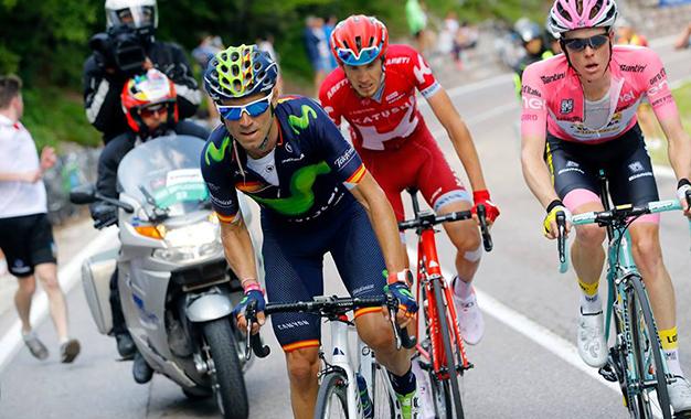Valverde no caminho da vitória da 16ª etapa