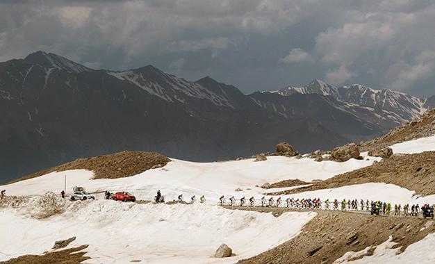 No percurso da 20ª etapa do Giro