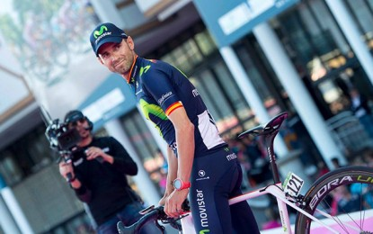 Alejandro Valverde é atingido por cancela durante treinamento