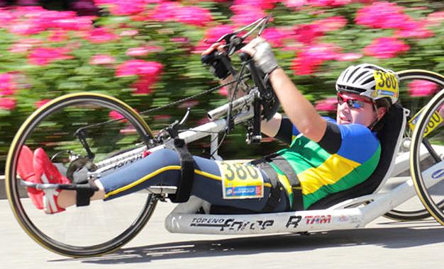 Jady foi a quarta colocada na categoria Handbike 3