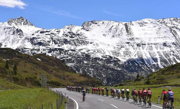No percurso da etapa rainha do Tour da Suíça