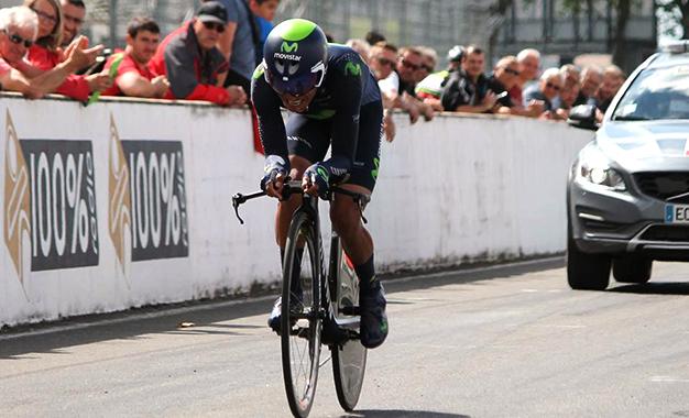 Quintana na etapa de contrarrelógio da La Route du Sud