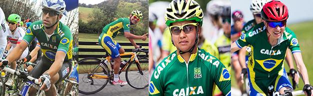 O quarteto brasileiro para os Jogos Rio 2016 no ciclismo de estrada