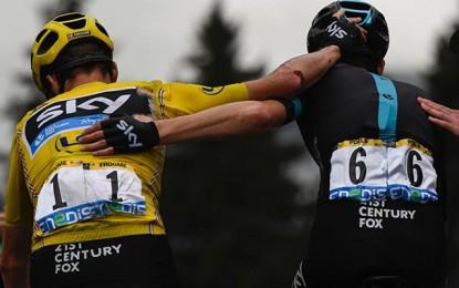 Froome, após queda: Tour de France só termina em Paris