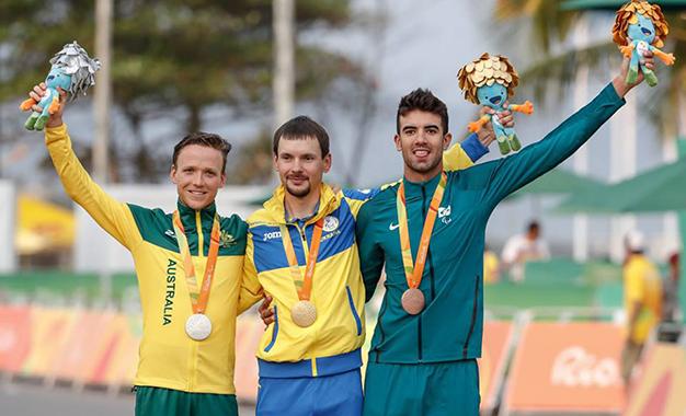 Pódio com o brasileiro na 3ª colocação