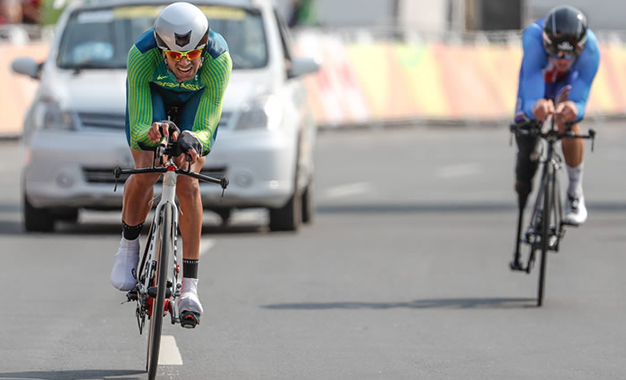 Lauro Chaman foi medalha de bronze na crono Foto: Marco Antonio Teixeira/CPB
