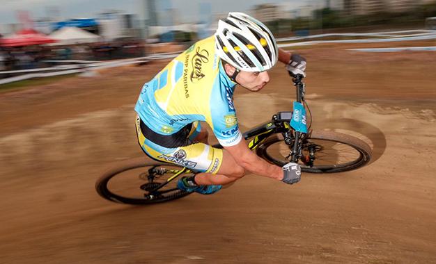 Cocuzzi na prova de MTB short track Foto: Fernando Siqueira / FS Fotografia