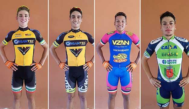 Novos contratados da equipe Funvic dentro do projeto Brasil Pro Cycling