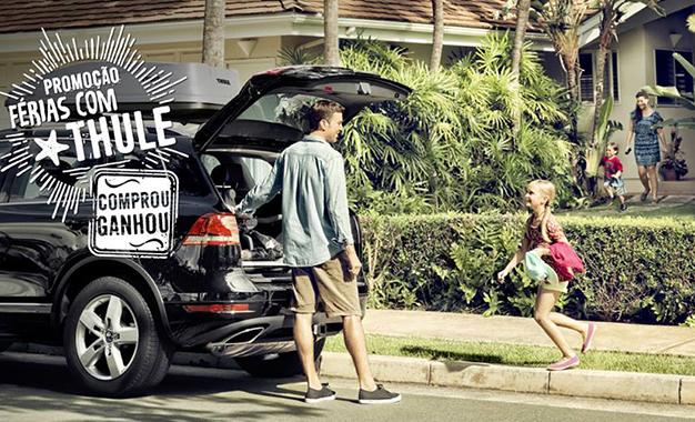 Uma das imagens de divulgação da campanha da Thule