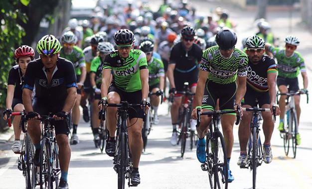 Ciclistas no treino aberto do GFNY Brasil no Rio de Janeiro Foto: Fernando Maia