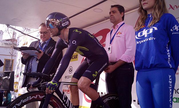 Valverde na largada da prova de crono